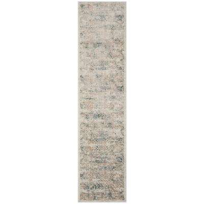 Princeton Silver/Anthracite 2 ft. x 10 ft. Runner Rug