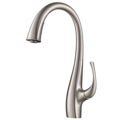 Spot Free Ansel Single-Handle Pull-Down Sprayer Kitchen Faucet in All-Brite Stainless Steel