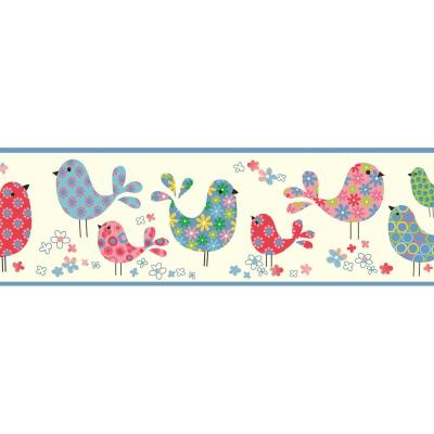 Patria Calico Birdies Toss Wallpaper Border