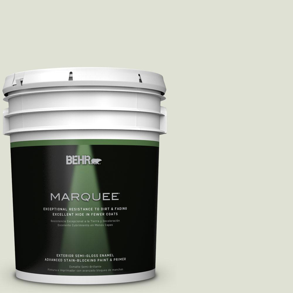 BEHR MARQUEE 5-gal. #S380-1 Moss Mist Semi-Gloss Enamel Exterior Paint