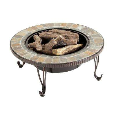 Illuma 36 in. Bio-Ethanol Fire Pit with Log Set