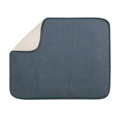 iDry 18 in. x 16 in. Large Kitchen Mat in Pewter/Ivory