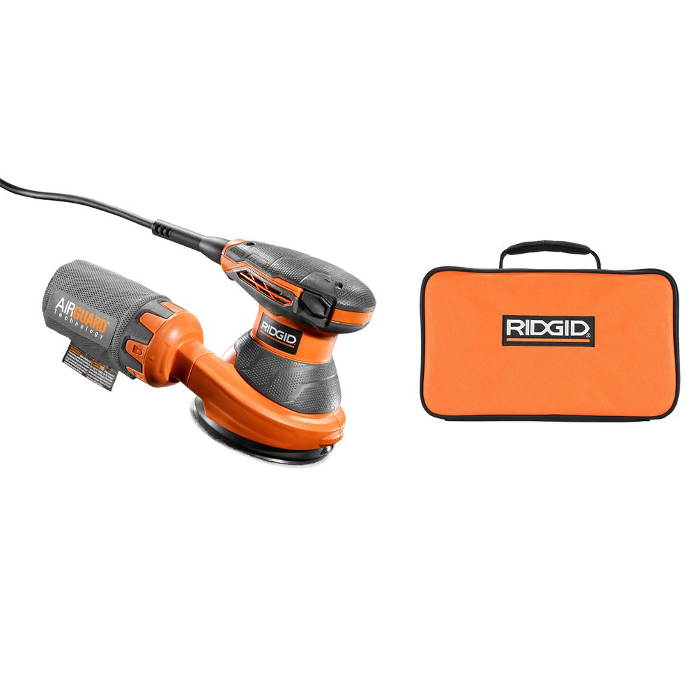 RIDGID 3 Amp Corded 5 in. Random Orbital Sander with AIRGUARD Technology