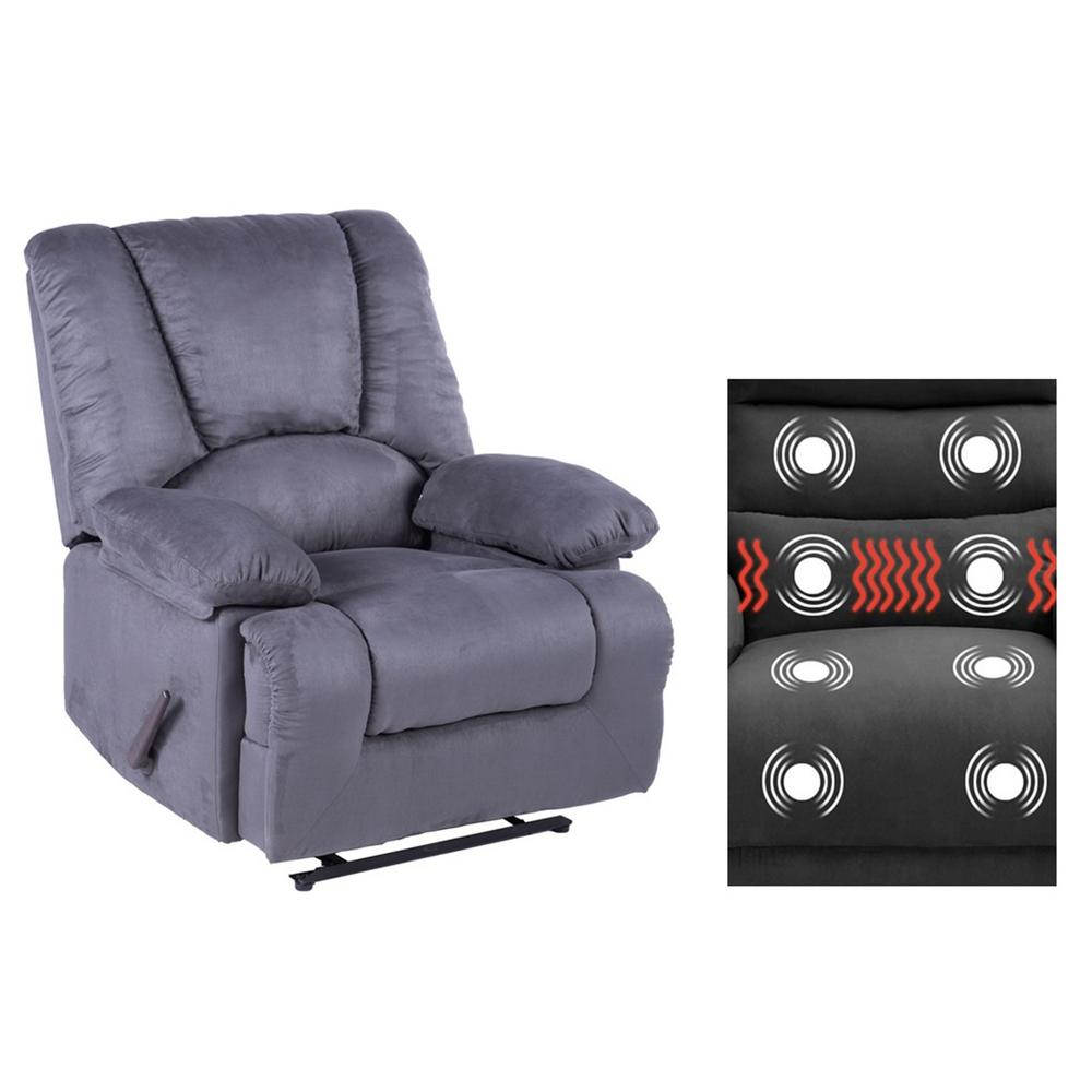 Lifesmart Calla Casa Series Gray Oversized Massage Recliner with Heat, Massage Storage, USB Ports and Remote R10B GRAY The Home Depot