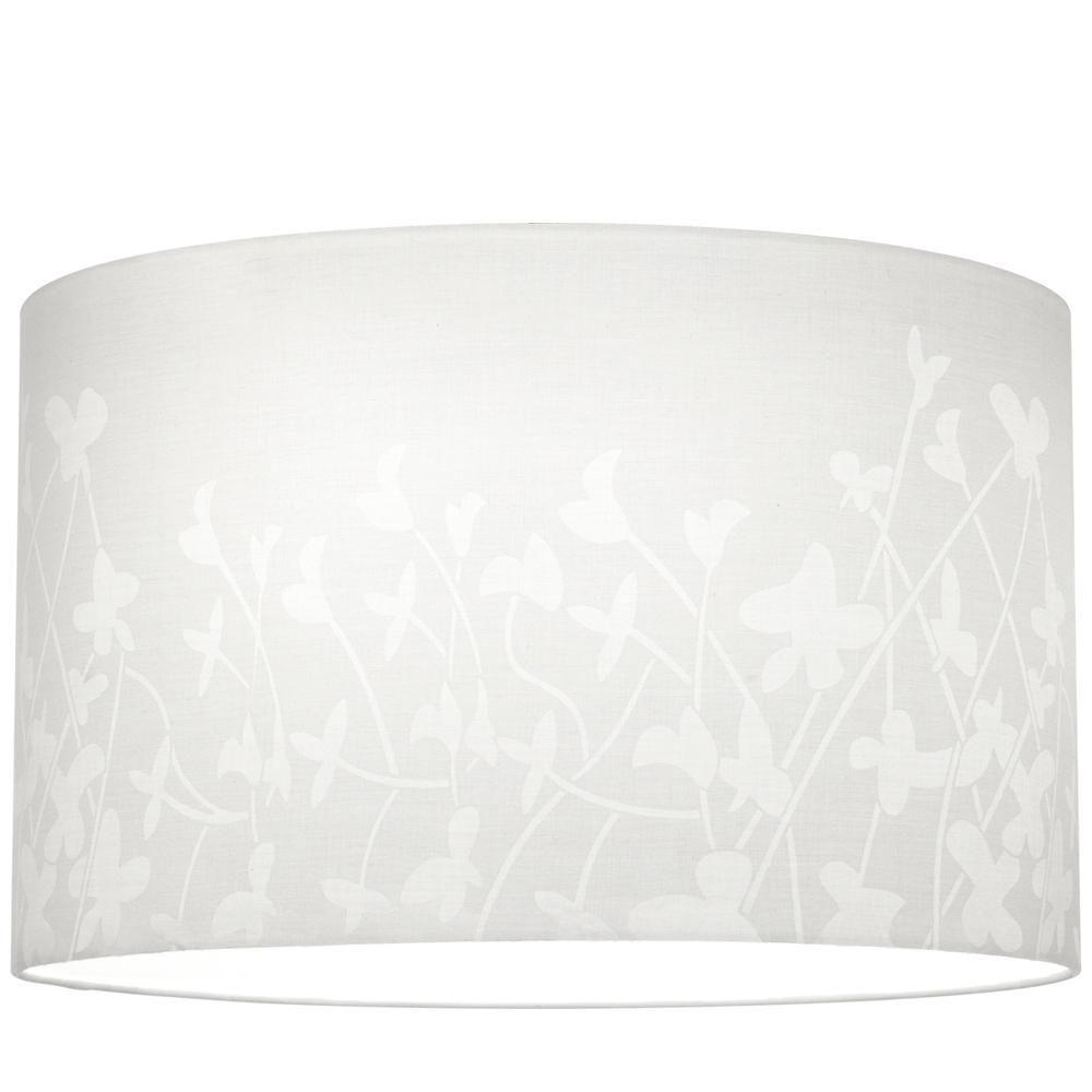 Chloe Collection White Floral Pattern Accessory Shade