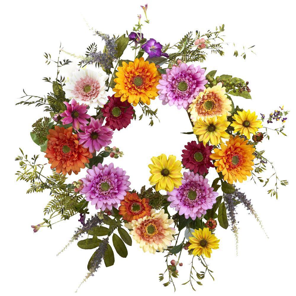 26 in. African Sunflower Wreath