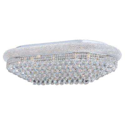 Empire Collection 24-Light Crystal and Chrome Ceiling Light