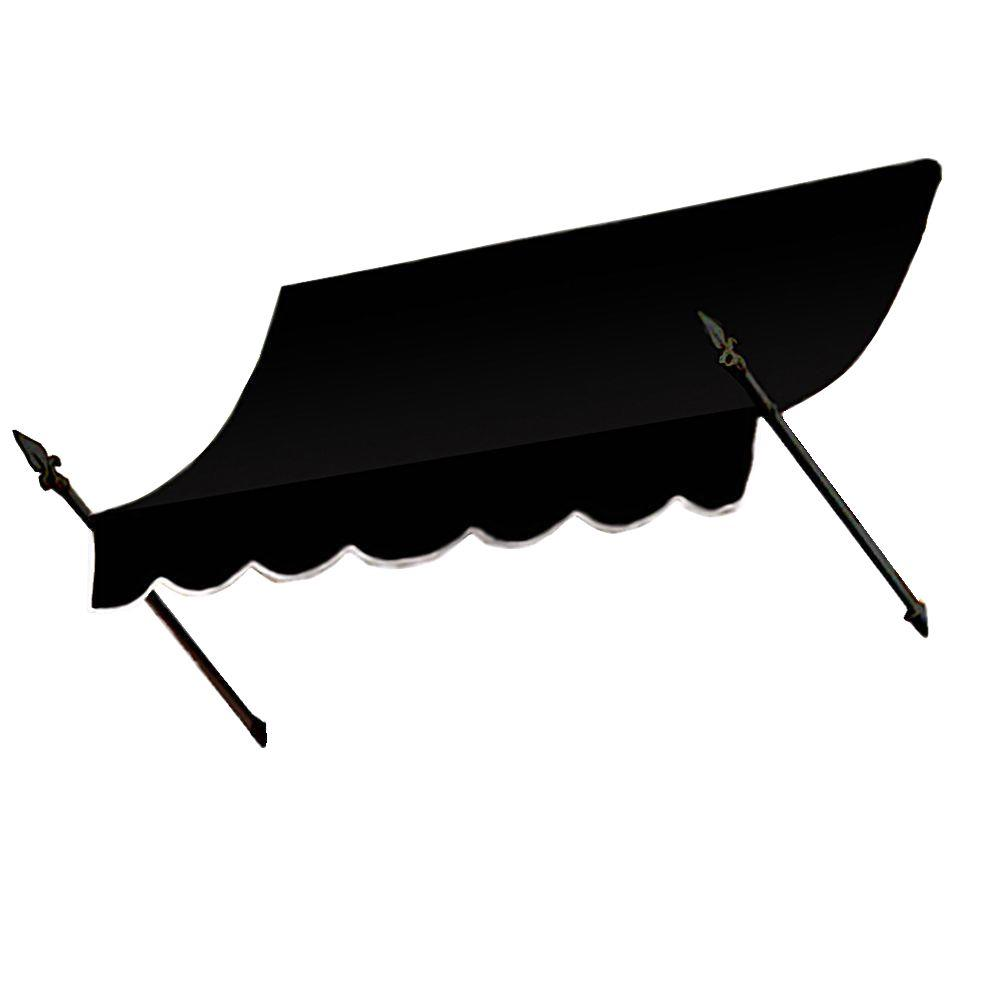 AWNTECH 4 ft. New Orleans Awning (44 in. H x 24 in. D) in Black