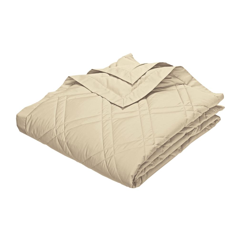 Classic Down Alabaster Cotton King Quilted Blanket