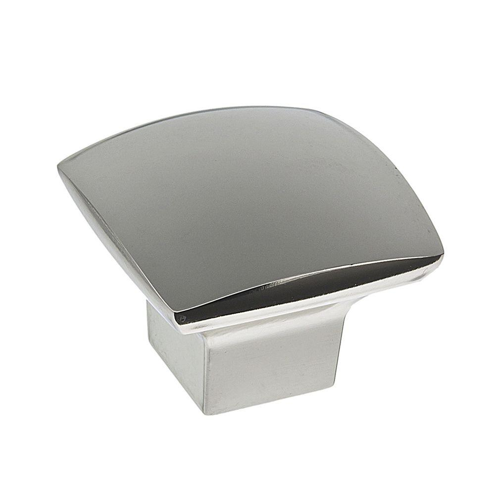 1-1/2 in. Polish Nickel Simple Soft Square Knob