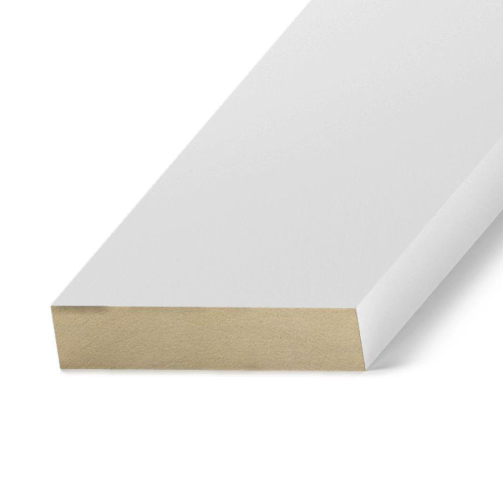 Primed MDF Board (Common: 11/16 in  x 5-1/2 in  x 10 ft