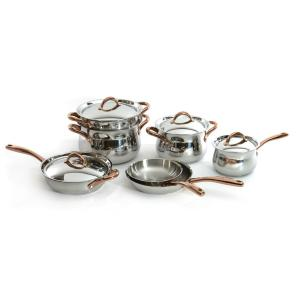 BergHOFF Ouro 11-Piece Stainless Steel Cookware Set with Lids by BergHOFF