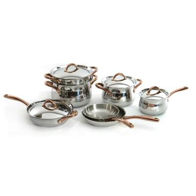 Ouro 11-Piece Stainless Steel Cookware Set with Lids