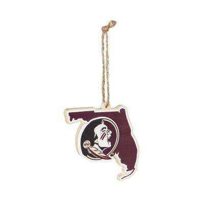 Florida State University 5 in. NCAA Team State Christmas Ornament
