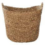 Large 21.5 in. x 18.5 in. Seagrass Storage Basket in Natural