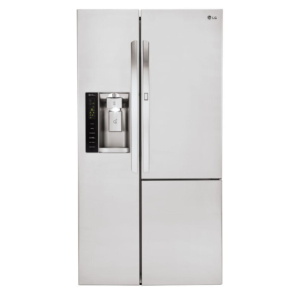 lg electronics 26 1 cu ft side by side refrigerator with door in door in stainless steel. Black Bedroom Furniture Sets. Home Design Ideas