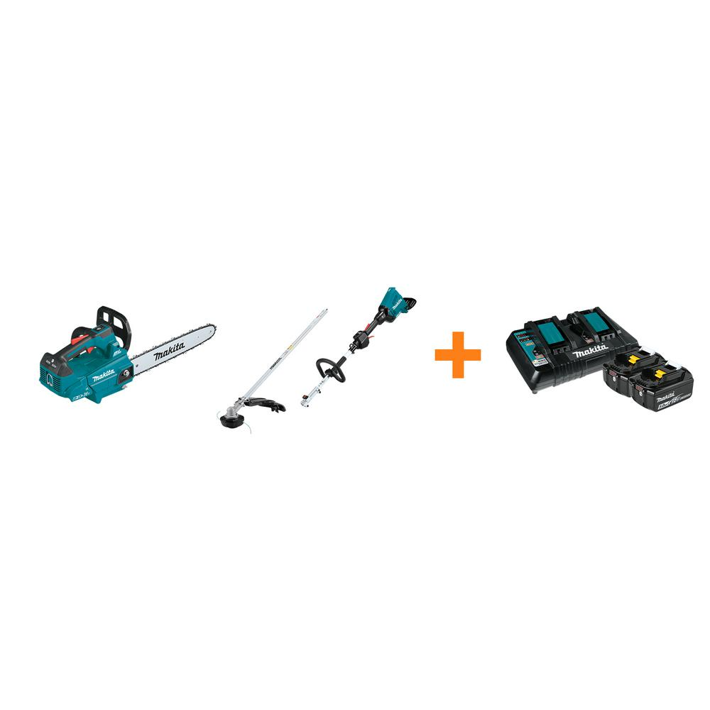 Makita 18V X2 LXT Brushless Electric 16 in. Chain Saw and 18V X2 LXT Couple Shaft Power Head with bonus 18V LXT Starter Pack was $927.0 now $668.0 (28.0% off)