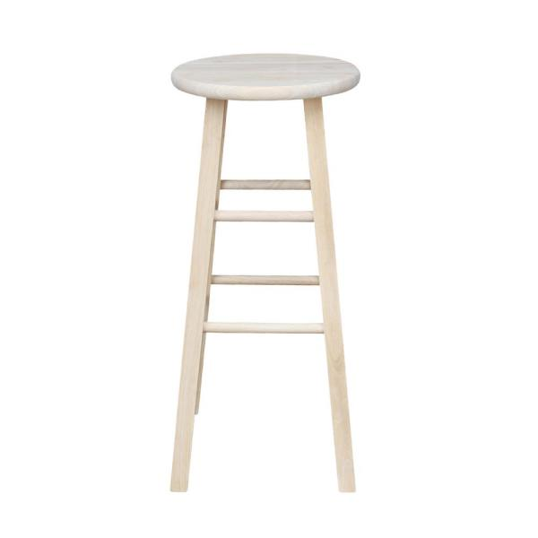 Unfinished Wood Counter Stool