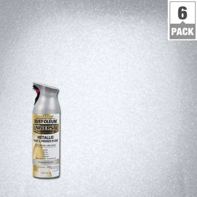 12 oz. All Surface Metallic Titanium Silver Spray Paint and Primer in One (6-Pack)