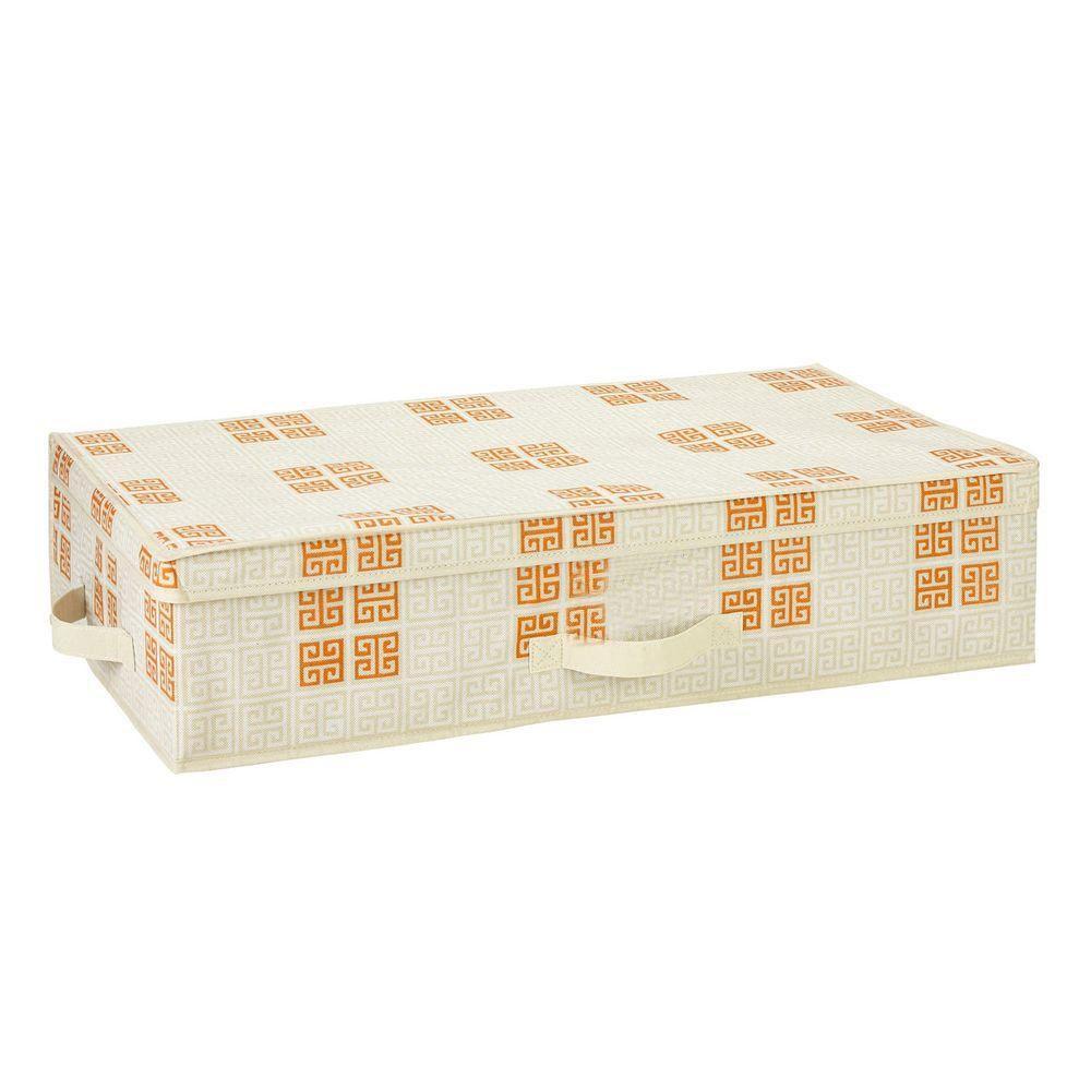 Under-the-Bed Polypropylene Storage Box in Cameo Key Cream