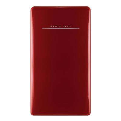 Retro 4.4 cu. ft. Mini Refrigerator in Red