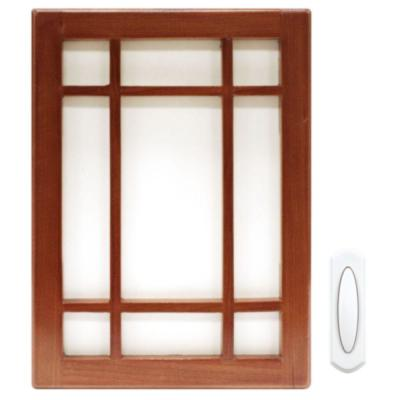 Cherry Wood Wireless Door Chime Kit
