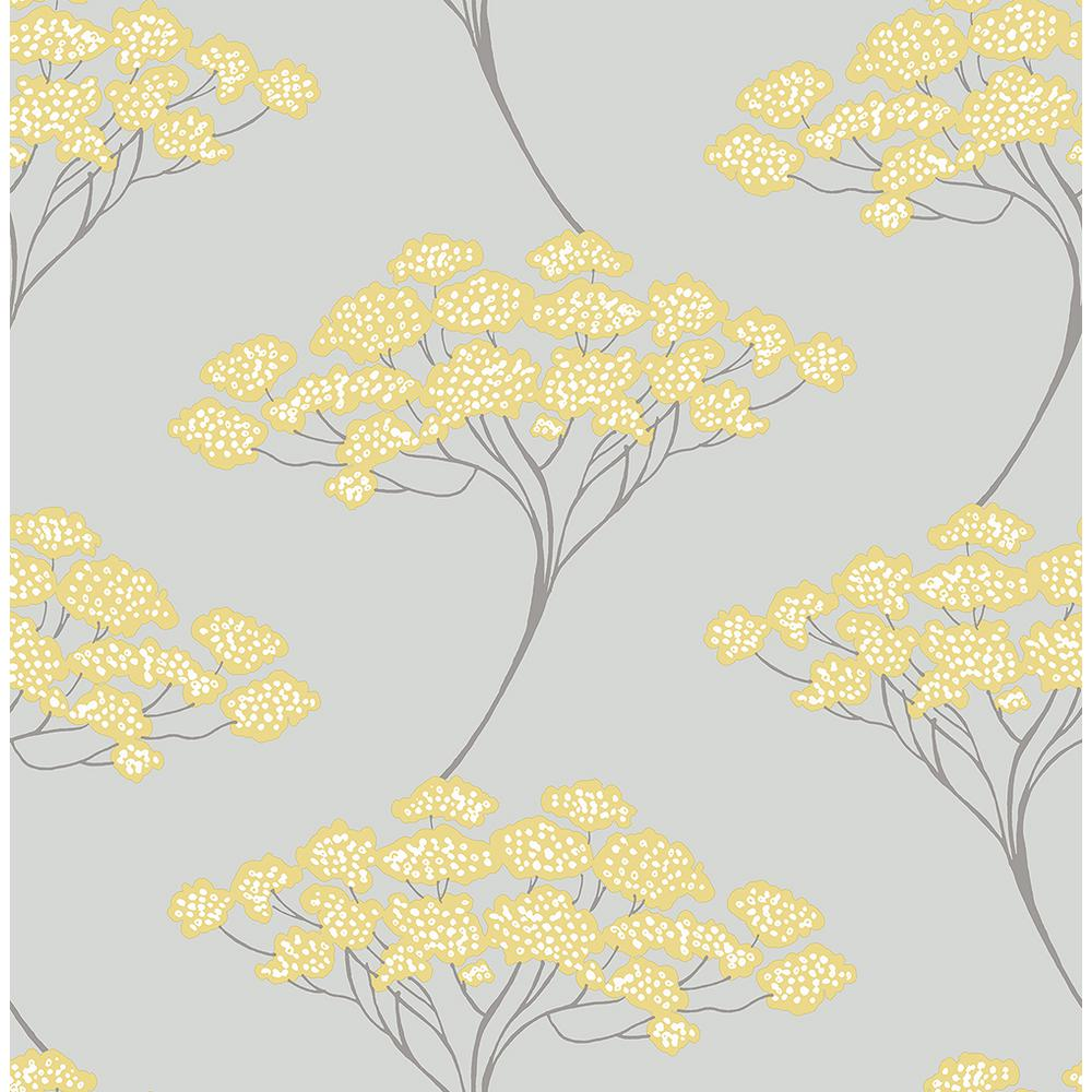 Kenneth James Banyan Grey Tree Wallpaper Sample
