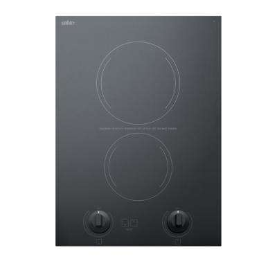 15 in. Radiant Electric Cooktop in Black with 2 Elements