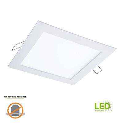 SMD-DM 6.4 in. Lens White Square Integrated LED Surface Mount Recessed Ceiling Light, 5000K Daylight (No Can Needed)