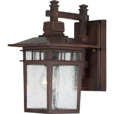 Connor 1-Light Rustic Bronze Outdoor Wall Mount Sconce