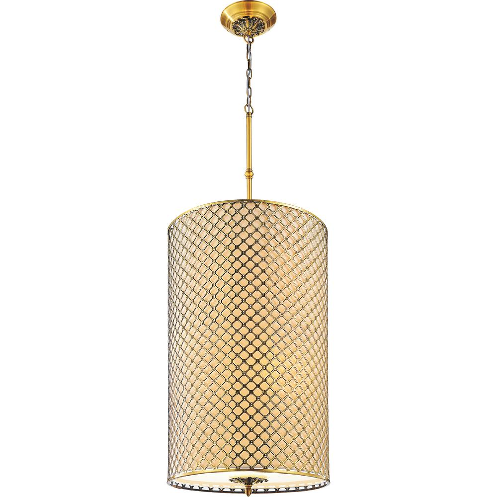 Gloria 8-Light French Gold Chandelier with Beige shade