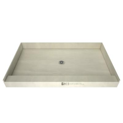 Redi Base 30 in. x 54 in. Single Threshold Shower Base with Center Drain and Polished Chrome Drain Plate