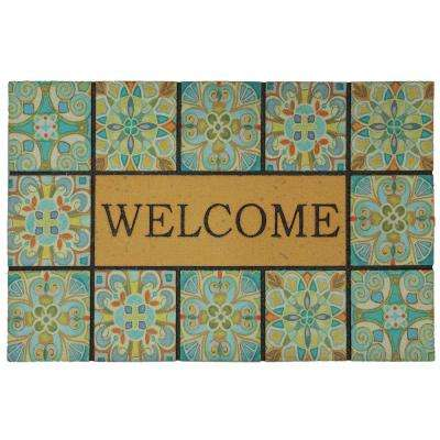 Welcome Tiles 18 in. x 30 in. Door Mat