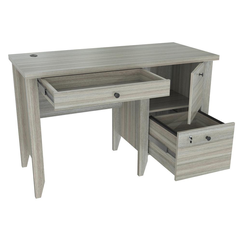 Inval Smoke Oak Writing Desk