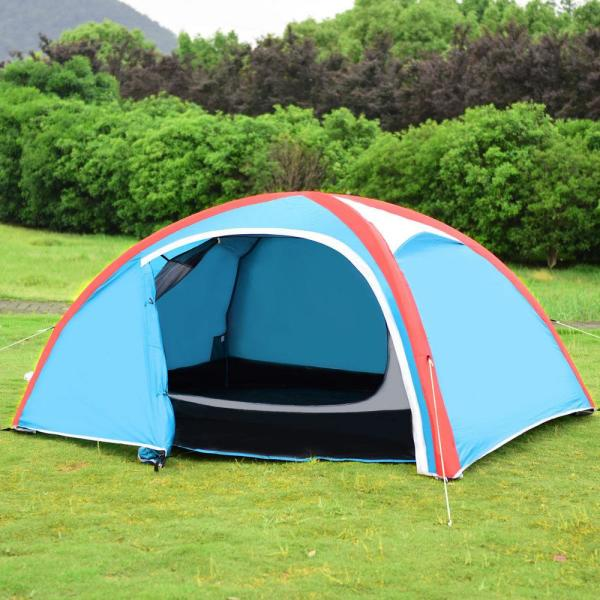 Casainc 3 Person Inflatable Camping Waterproof Tent With Bag And Pump Hy Op3464 The Home Depot