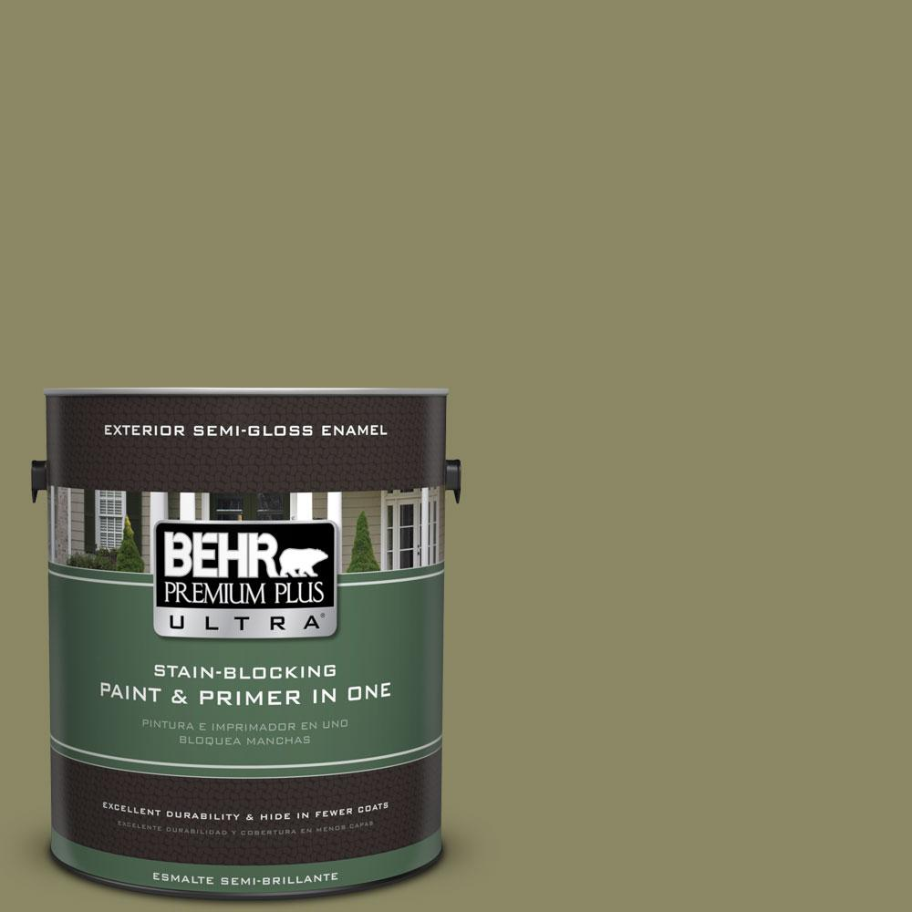 BEHR Premium Plus Ultra 1-gal. #PPU9-23 Oregano Spice Semi-Gloss Enamel Exterior Paint