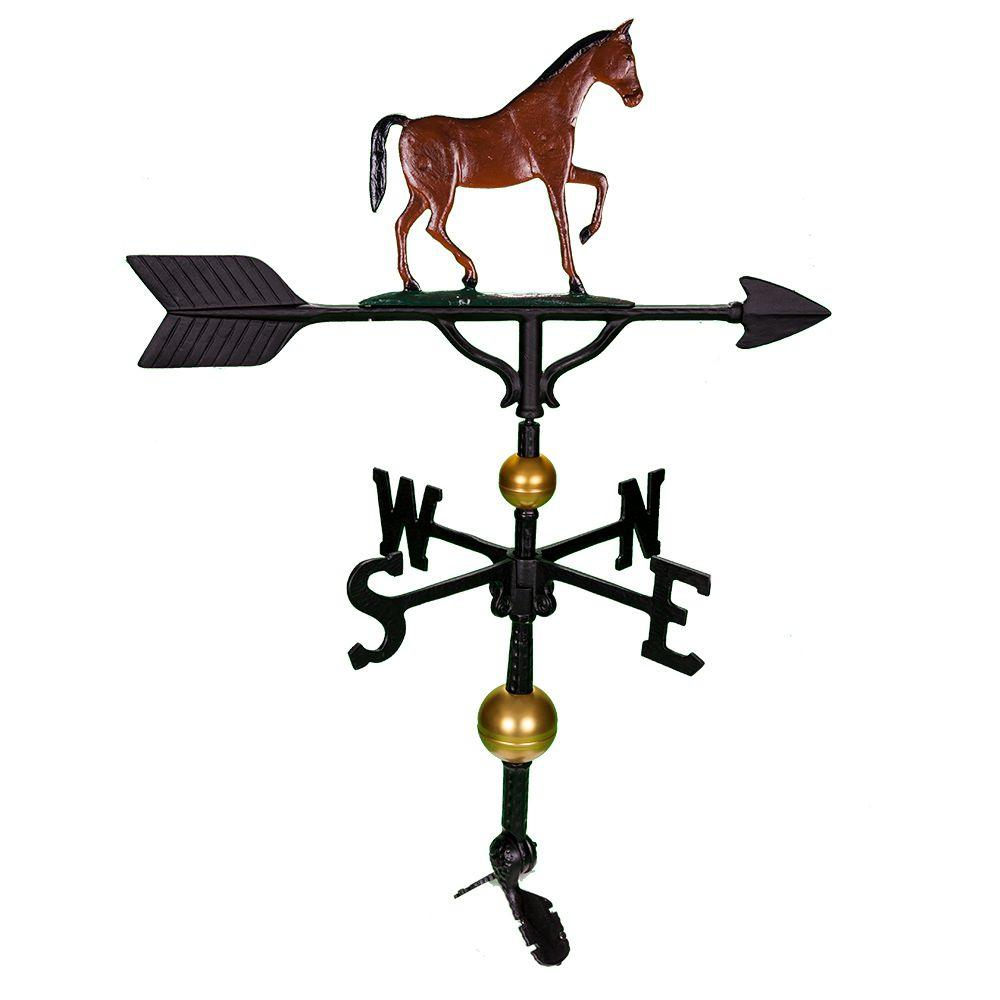 32 in. Deluxe Black Gaited Horse Weathervane