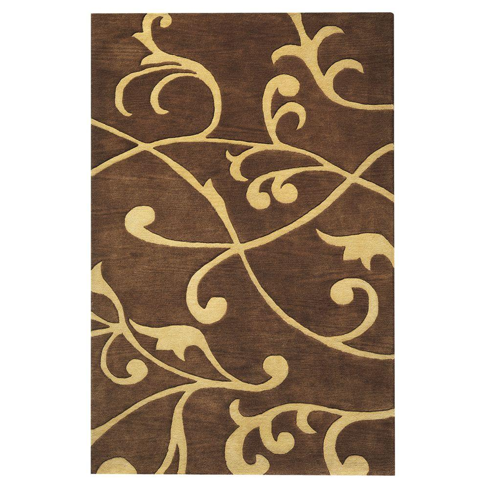Home Decorators Collection Perpetual Brown 3 ft. 6 in. x 5 ft. 6 in. Area Rug