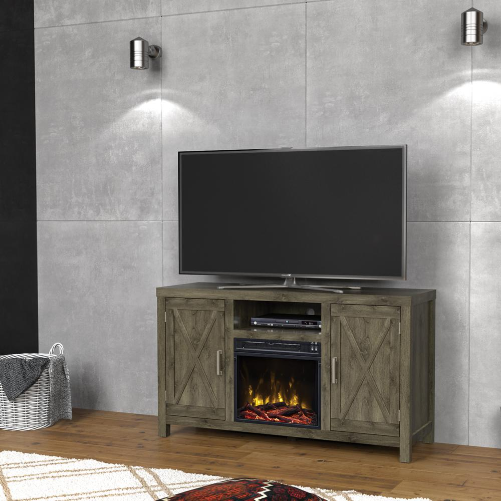 Classic Flame Humboldt 52 50 In A Console Electric Fireplace Spanish Gray