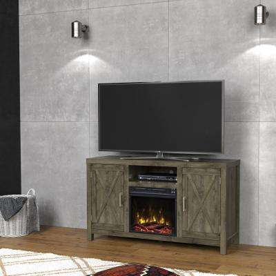 Humboldt 52.50 in. Media Console Electric Fireplace in Spanish Gray