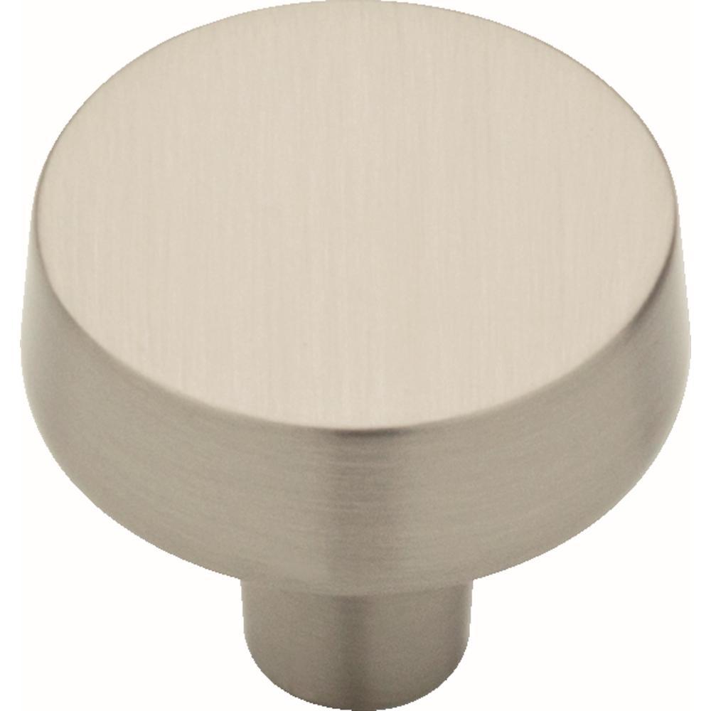 Soft Modern 1-3/8 in. (38 mm) Satin Nickel Round Cabinet Knob