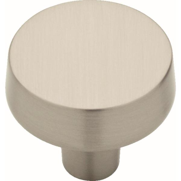Soft Modern 1-3/8 in. (38 mm) Satin Nickel Round Cabinet Knob