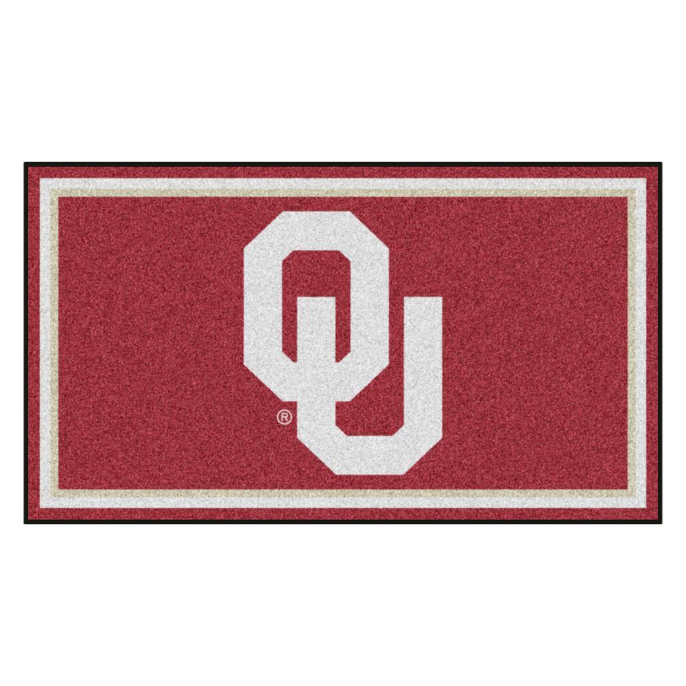 NCAA University of Oklahoma 3 ft. x 5 ft. Ultra Plush Area Rug