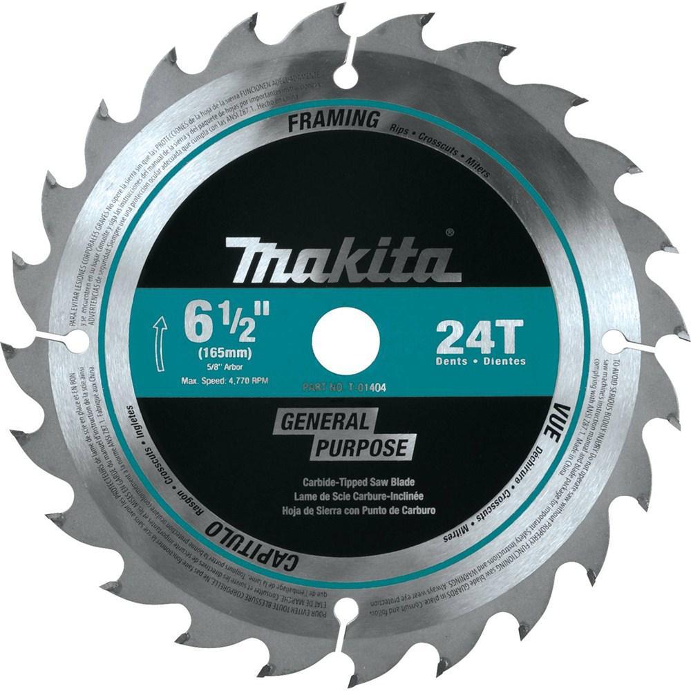 6-1/2 in. 24T Carbide-Tipped Circular Saw Blade