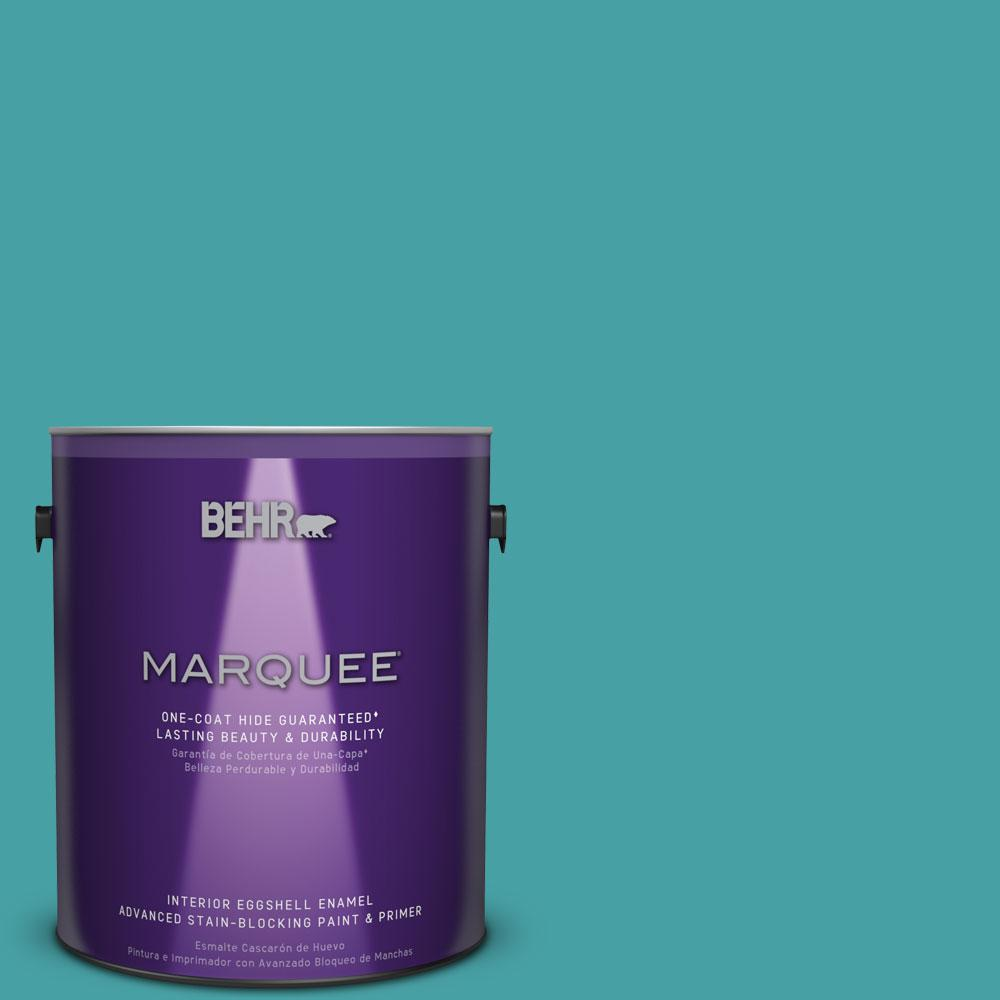 1 gal. #M460-5 Aqua Fresco One-Coat Hide Eggshell Enamel Interior Paint