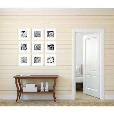 9-Opening 8 in. x 8 in. Matted Picture Frame