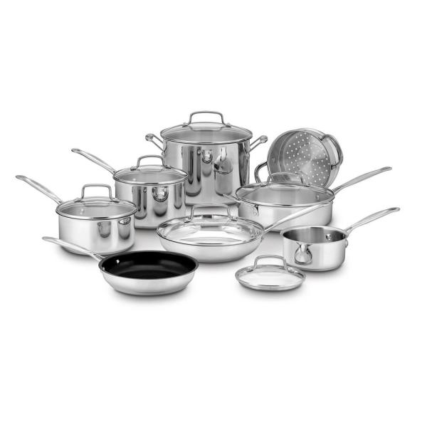 Cuisinart CHEF'S CLASSIC 14-Piece Stainless Steel Cookware Set 77-14N