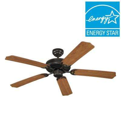 Quality Max Collection 52 in. Heirloom Bronze 5 Blade Ceiling Fan