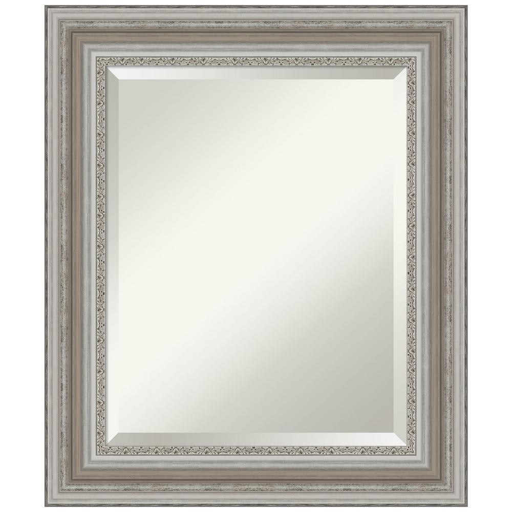 21.5 in. x 25.5 in. Parlor Silver Bathroom Vanity Mirror