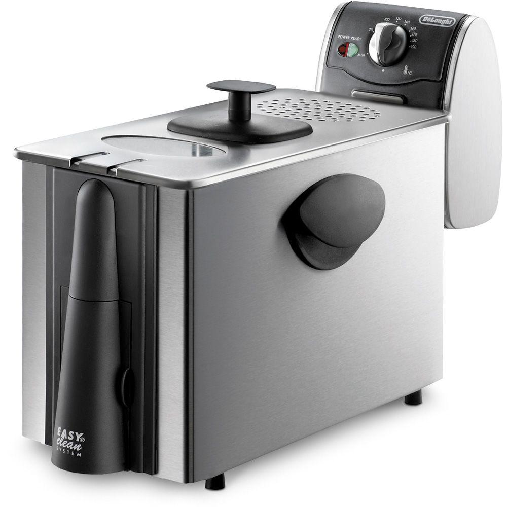 Dual Zone 4L Stainless Steel Deep Fryer with Easy Clean Drain